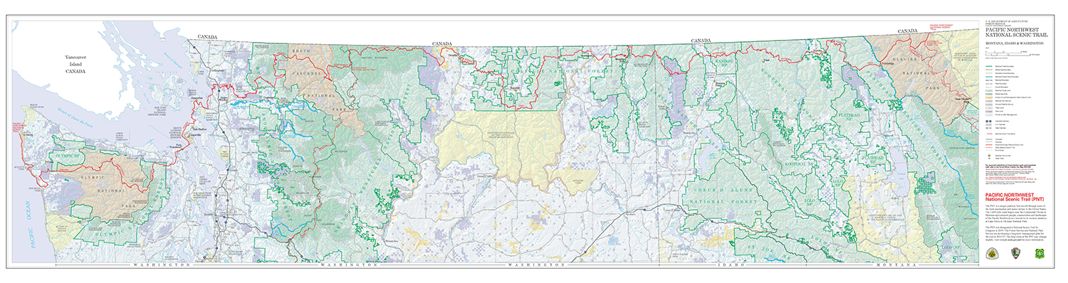 Strip Maps of the Pacific Northwest National Scenic Trail