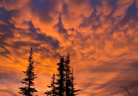 Sunset on the Pacific Northwest Trail