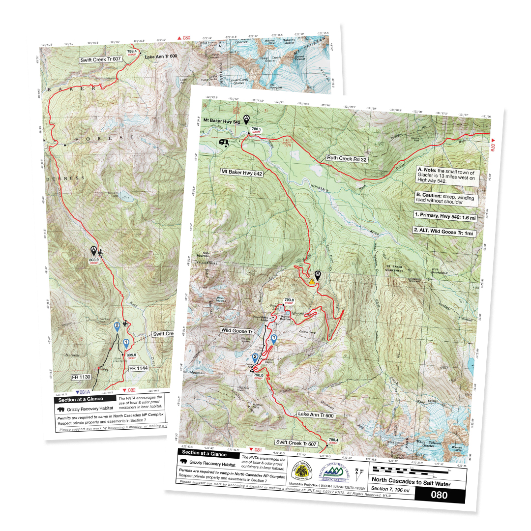 Maps Of The Pacific Northwest National Scenic Trail