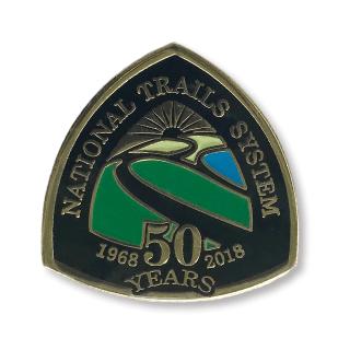 NTS 50th Anniversary Pin - Black Enamel