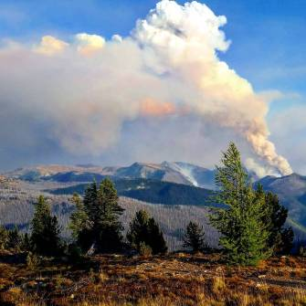 The Diamond Creek Fire in the Pasayten Wilderness, July 2017. Photo by Jessica Foster.