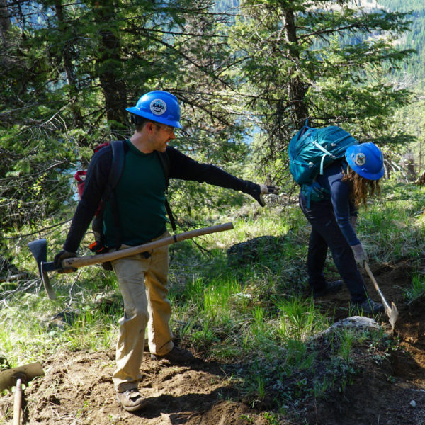 Western Washington Regional Coordinator, Sterling Collins-Hill co-led field exercises on the Pipsissewa Trail.