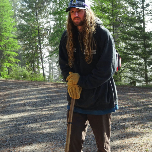 Zac Skees joined our team this year, bringing years of backcountry trail stewardship experience.