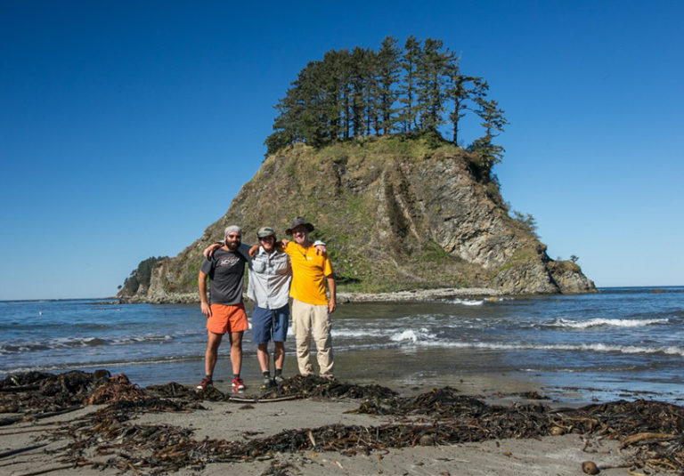 Thru-hikers at Cape Alava by Alex Maier