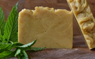 Summer Carrot Soap with Mint & Lemongrass Essential Oils