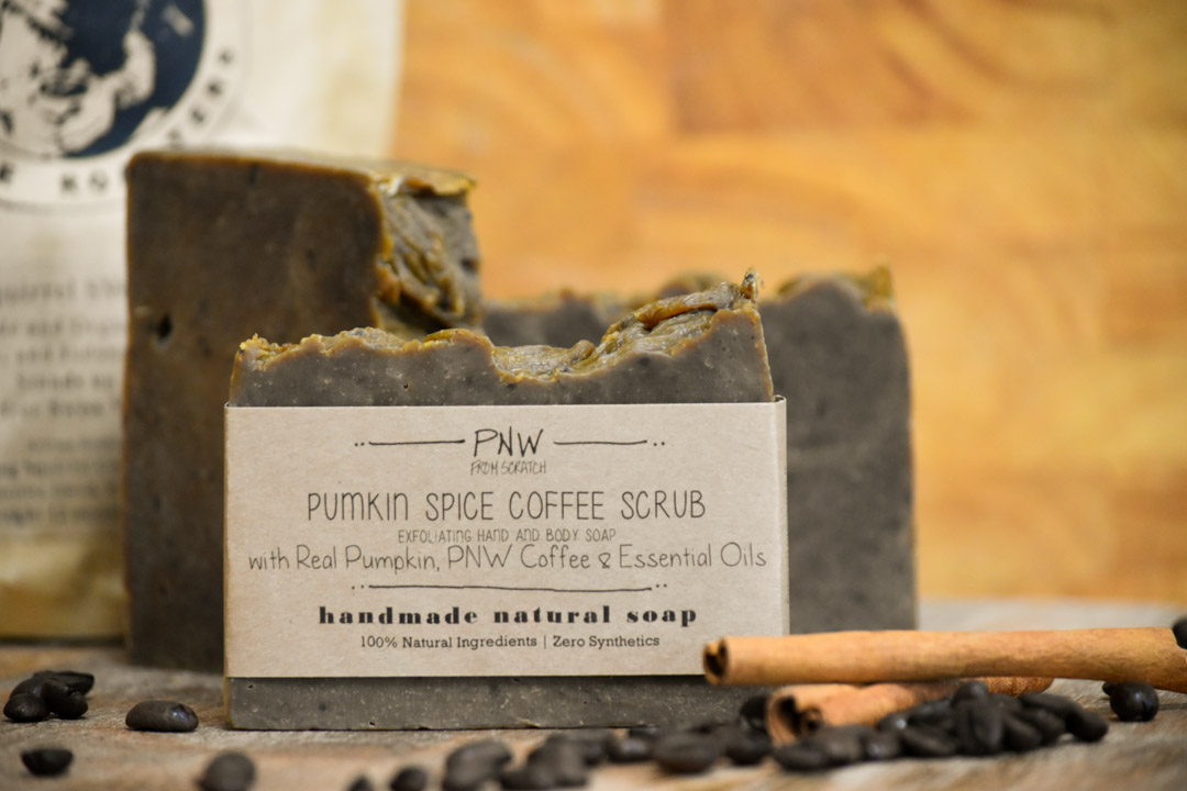 Pumpkin Spice Coffee Scrub Soap Fall Giveaway! by PNW from Scratch .com ... Ok, so maybe we are taking Pumpkin Spice a little too far, but before you judge, wait until you try this soap! Then, tell me what you think.