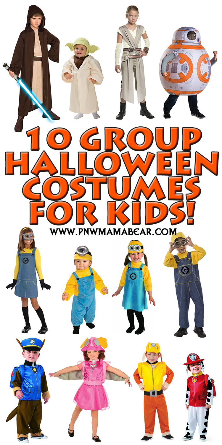 10 Creative u0026 Unique Halloween Group Costume Ideas for Kids!  sc 1 st  PNW MAMA BEAR : kids group costume ideas  - Germanpascual.Com