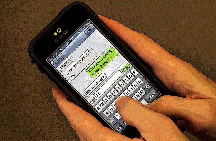 Cyberbullying on phones