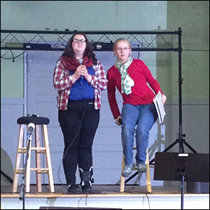 Becca and Liz share their faith talks at Fort Flagler.