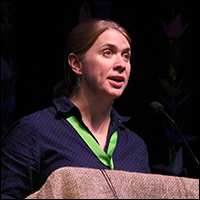 The Rev. Jenny Phillips speaks at The 2014 Pacific Northwest Annual Conference Sessions.