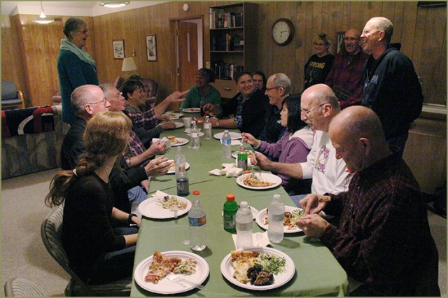 PNW Laity gathered at Pateros UMC and were welcomed by Pastor Earl Lane and the congregation. The immersion group was greeted with radical hospitality through great food and a comforting atmosphere for sharing ideas and learning more about the people of Okanogan County.