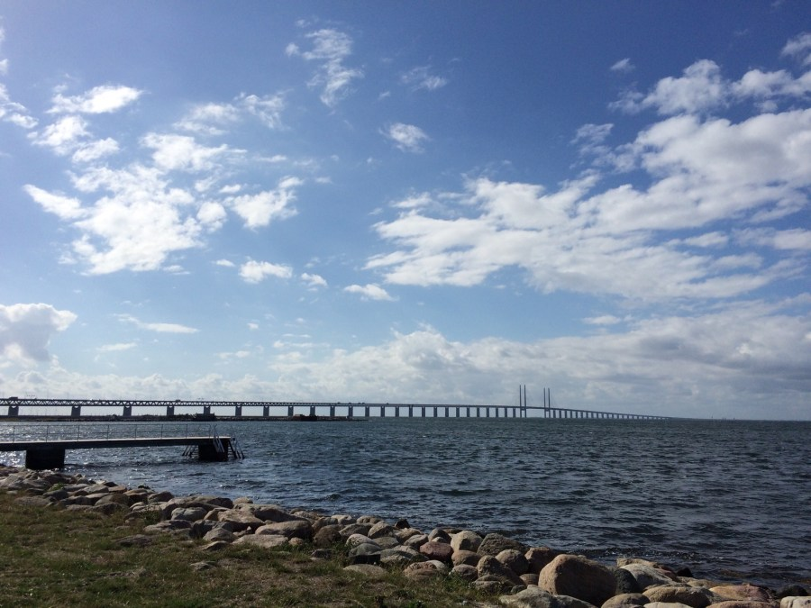 öresund Bridge seen from Sibbarp coast