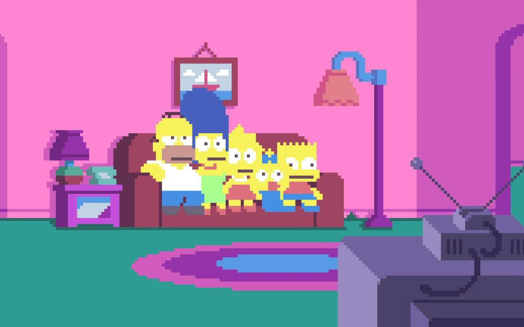 La intro dels Simpsons estil 8bit