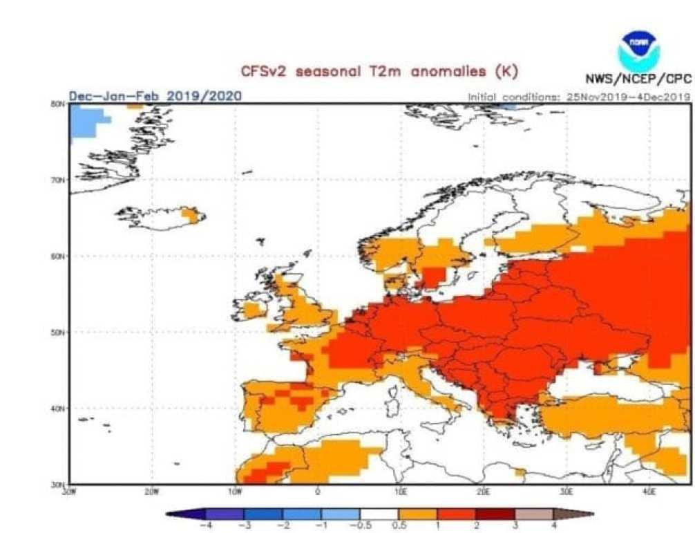 Teplotní odchylky - model CFS