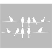 Pochoir Adhesif 25 X 20 Cm Oiseaux