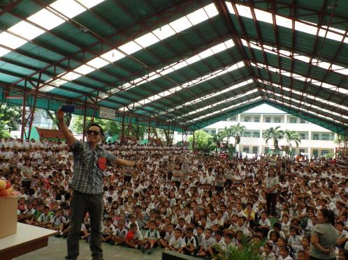 The VoiceMaster Storytelling for 5000 kids in Baclaran Elementary School