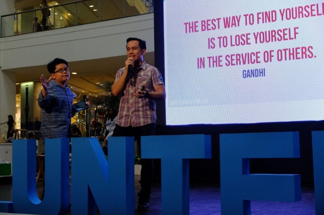 The VoiceMaster Shares the Stage with his son Patrick Gabriel