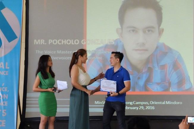 The VoiceMaster Speaks at ComGuild Event in Mindoro