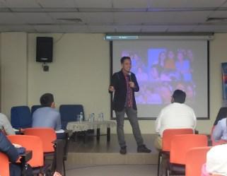 Filipino motivational speaker speaks at the ASEAN Youth Entrepreneurship Challenge in Selangor Malaysia