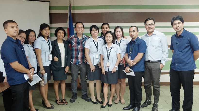 Filipino motivational speaker with the employees of Alcantara Group of Companies