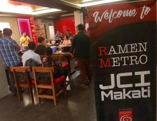 JCI Makati Launches HUB Night at Ramen Metro