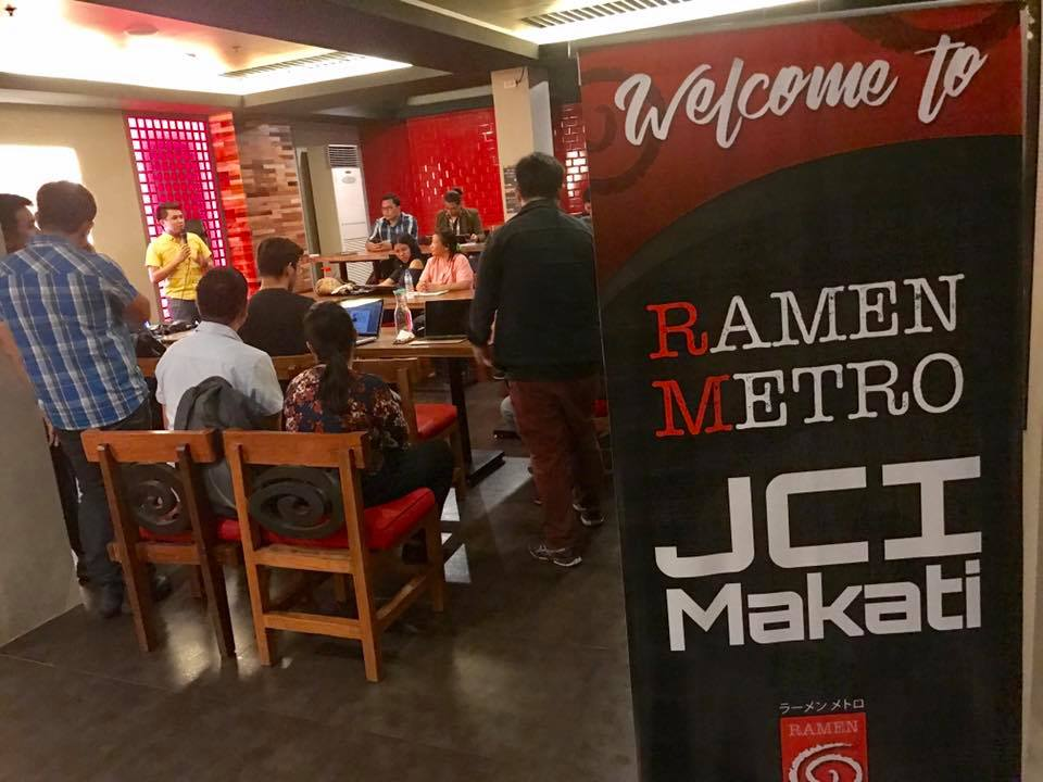 JCI Makati Launches HUB Night at Ramen Metro