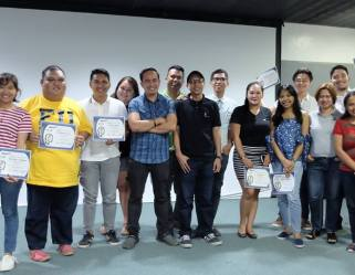 With the participants of the Voice Acting Workshop in Davao City