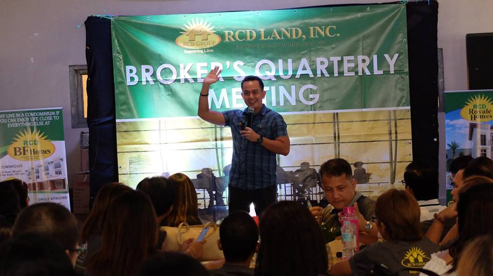 The VoiceMaster speaks at RCD Land's 2nd Quarter Brokers Meeting