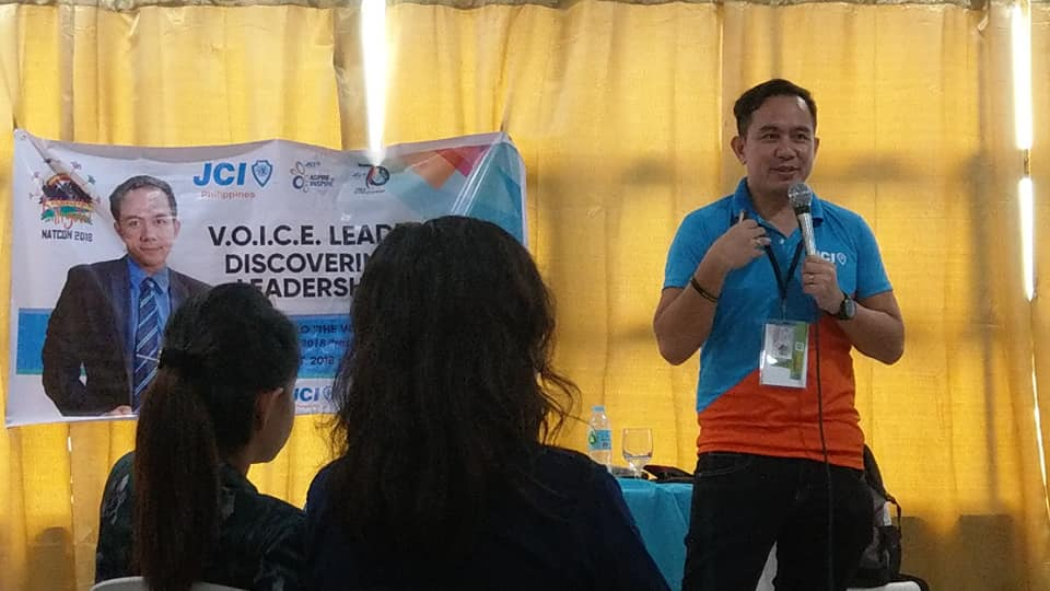 The VoiceMaster teaches leaders in JCI how to sound like a leader