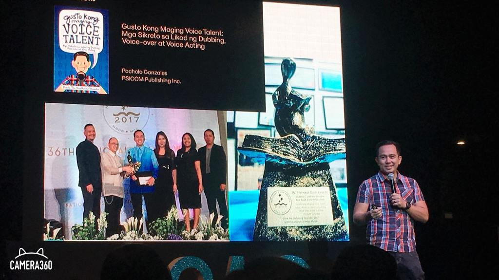 The VoiceMaster shares his National Book Award for Gusto Kong Maging Voice Talent