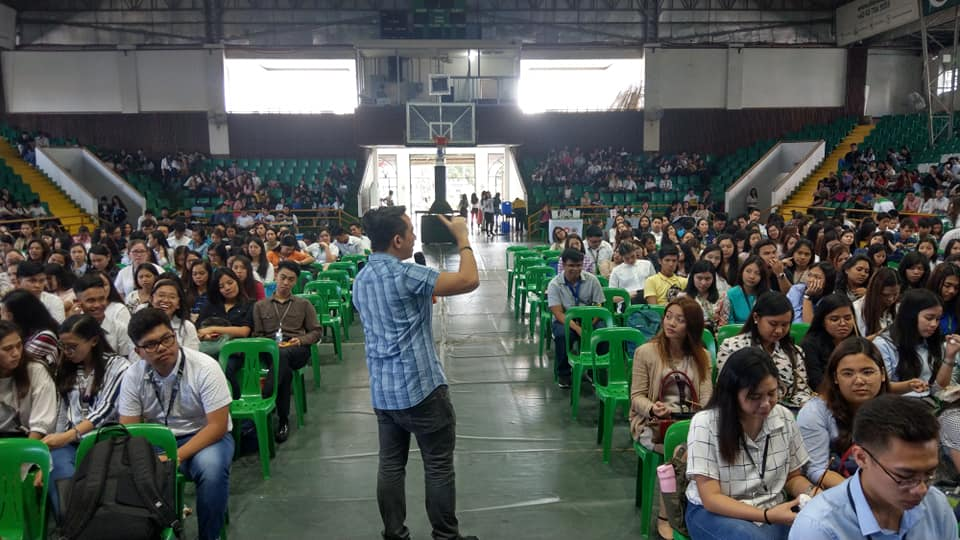 The VoiceMaster speaks in De La Salle Lipa CBEAM Colloquium