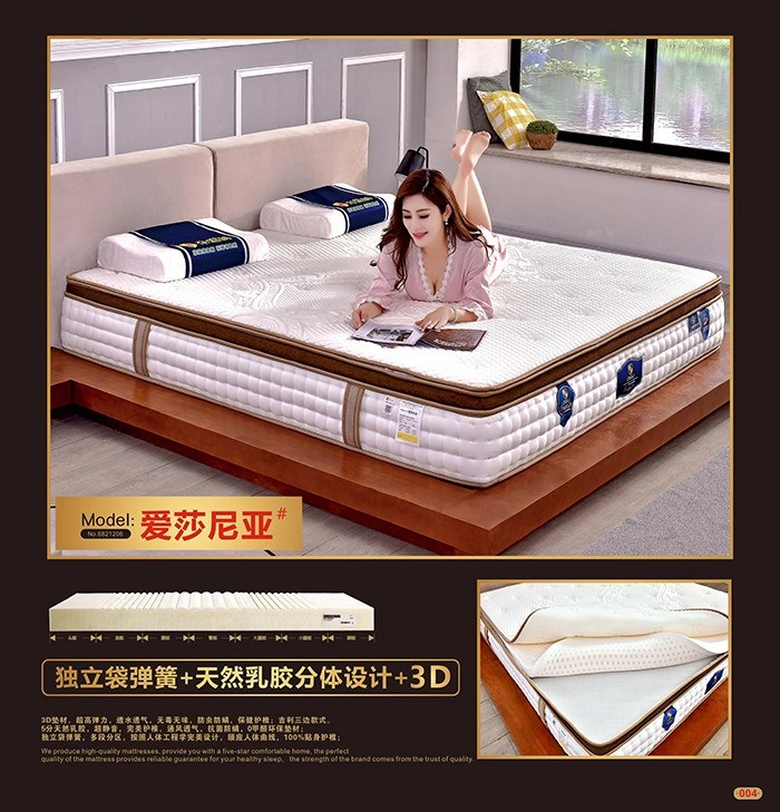 customized bonnell spring mattress luxury pillow top mattress hotel furniture
