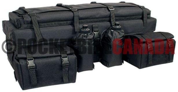 atv rack bag multi level version 1 black