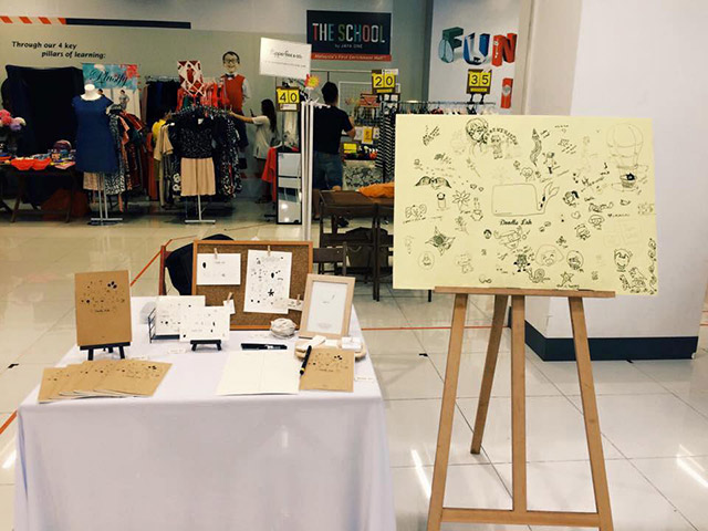 Come and doodle your worries away. Photo credits: Markets@Jaya One