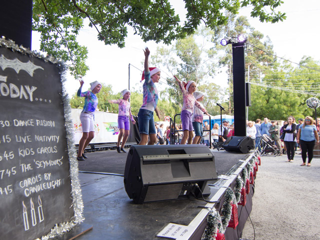 Performers entertaining the crowd. Photo credit: Ian Lee
