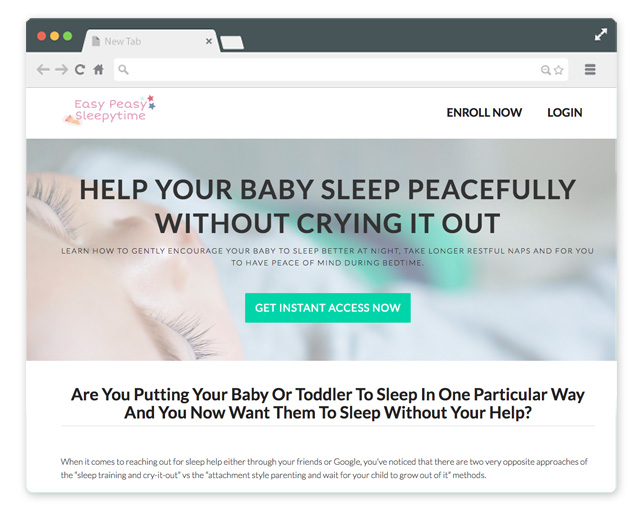 The Easy Peasy Sleeptime website uses the Pocketbook plug-in to provide secure access to the videos.
