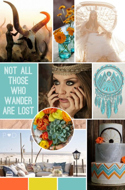 Mood Boards Global Nomad Mood Board Cake Succulents Outdoor Living at the Beach Not All Those Who Wander Are Lost
