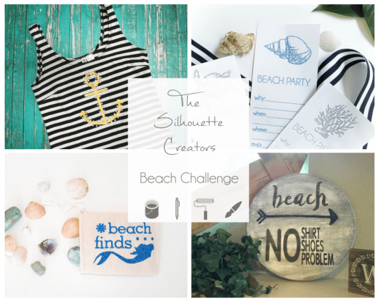 Silhouette Creators Beach Challenge Collage