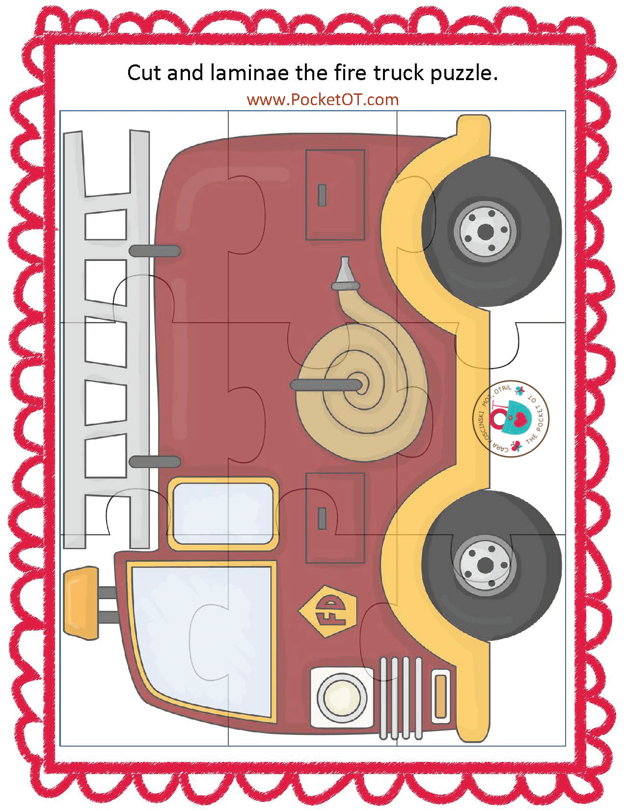 Free Page From Fire Safety Activity Pack