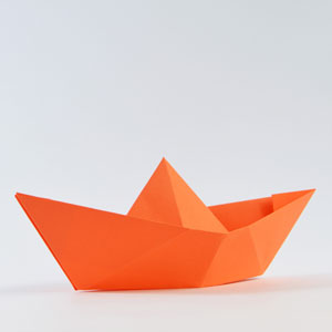 Papierschiffchen