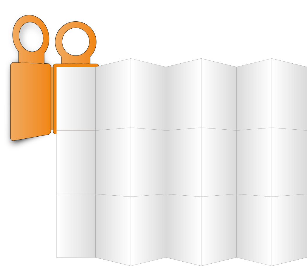 PocketPlaner mit Flaschenanhänger entfaltet