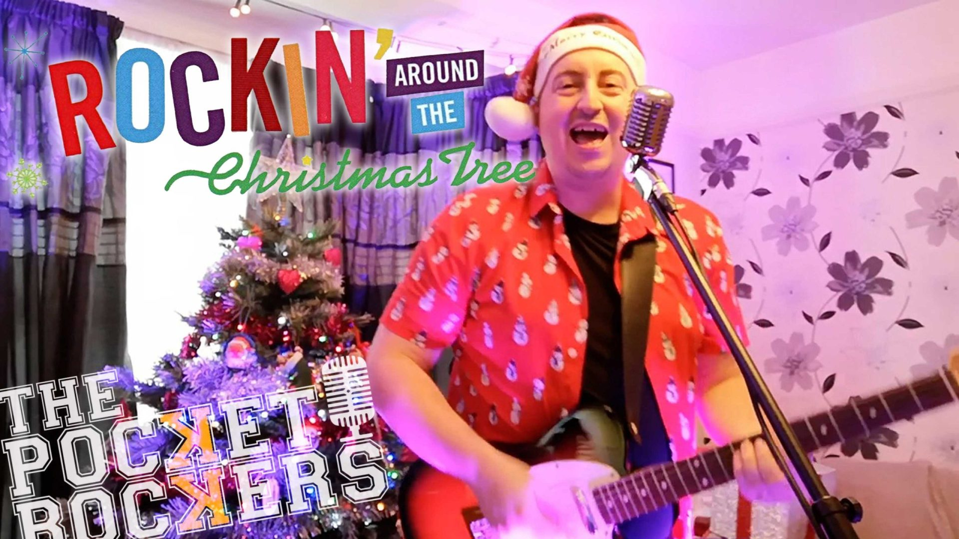 Thumbnail for the music video Rockin Around The Christmas Tree performed by The Pocket Rockers