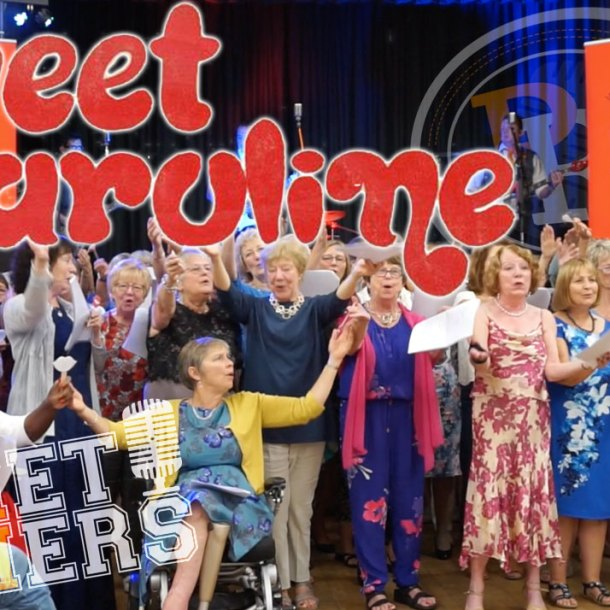 Thumbnail for the music video Sweet Caroline performed by The Pocket Rockers with Eastleigh Fusion Choir
