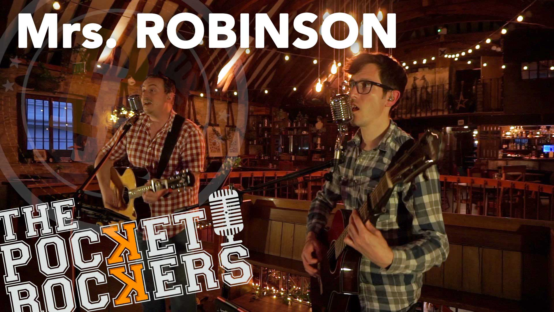Thumbnail for the music video Mrs Robinson performed by The Pocket Rockers