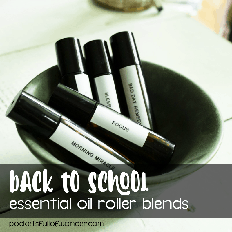 Back to school roller ball blends to help kids adjust to school