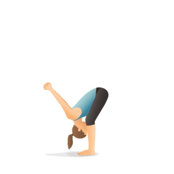 Yoga Pose: Standing Forward Bend with Shoulder Opener (Uttānāsana)