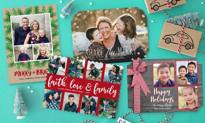 Groupon PhotoAffections Holiday Photo Cards 1799 For 40