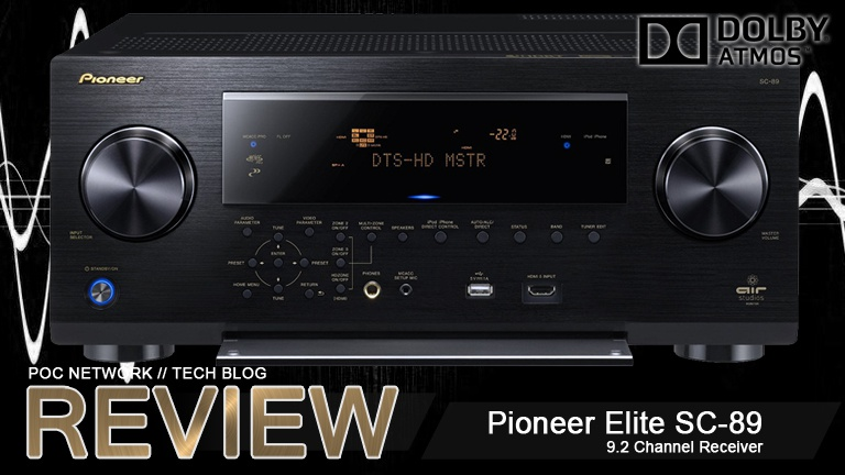 Review: Pioneer Elite SC-89 9.2 Channel Receiver with Dolby Atmos ...