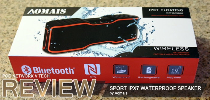 Review: Aomais Sport IPX7 floating waterprood Bluetooth speaker