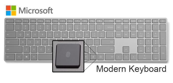 Microsoft's new Modern Keyboard with Fingerprint ID